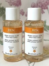 REN Ready Steady Glow Daily AHA Tonic ~ Resurfacing Toner 50ml ~ Vegan Friendly.