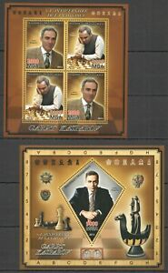 PE532 2013 MADAGASCAR SPORT CHESS WORLD CHAMPION GARRY KASPAROV BL+KB MNH