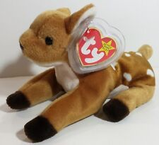 """TY Beanie Babies """"WHISPER"""" the DEER - MWMTs! A MUST HAVE! GREAT GIFT! RETIRED!"""