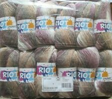 Full Pack King Cole Riot Chunky Multi Coloured Knitting Yarn  Acrylic Wool Blend