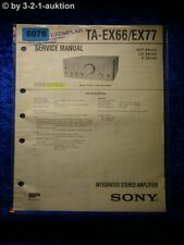 Sony Service Manual TA EX66 /EX77 Amplifier (#6076)