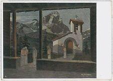 CARTOLINA d'Epoca AOSTA provincia - SAN BERNARDO: CASA ALPINA 1938 - illustrata