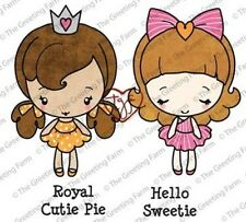 ROYAL CUTIE PIES-The Greeting Farm Cling Mount Rubber Stamp Craft-Anya/Ian
