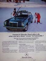 PUBLICITÉ 1973 POURQUOI LA MERCEDES DIESEL ATTIRE-T-ELLE C'EST UNE VOITURE SÛRE