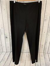 Eileen Fisher Black Elastic Waist Work Dress Pants Sz M Medium PT P1