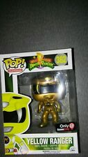 2016 Funko Pop MMPR Metallic Yellow Ranger #362 ~Black Friday GameStop Exclusive