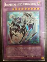Yugioh Elemental Hero Chaos Neos GLAS-EN036 Secret Rare 1st Edition HP