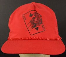 Scooter Vespa Motorcycle Card 2 Red Baseball Hat Cap with Cloth Strap Adjust