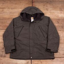 "Mens Vintage Carhartt Dark Grey Hooded Jacket Large 44"" R6625"