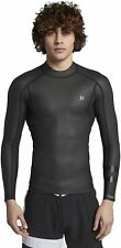 New $90 Hurley Advantage Plus 0.5mm Windskin Jacket Black Size Medium