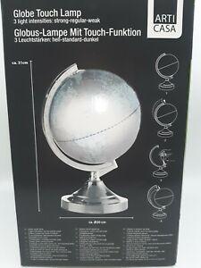 Globus beleuchtet in 3 Hellstufen Touch Funktion Durchmesser ca. 20cm OVP