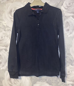 Girls Age 8 (7-8 Years) Gap Long Sleeved Navy Polo Top