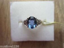 Color Change Fluorite Diamond Accent Ring Platinum Over Sterling Sz 7, 8 Option