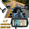 6.3'' Touch Screen Waterproof Phone Holder Motorcycle Rear Mirror Case Bag Mount