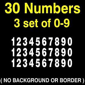 0-9 Numbers Vinyl Sticker Decal, Tool Box Locker Mailbox, 3 set of 10 numbers