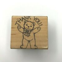 Thank You  Hero Arts Word Prints Wood Mount Rubber Stamp