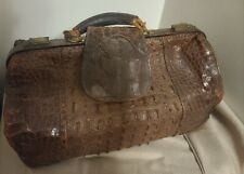 Genuine Antique 1900's Alligator Doctors Bag