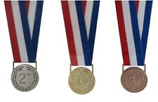 More details for 1st, 2nd & 3rd place sports events medal sets with ribbons - x 10