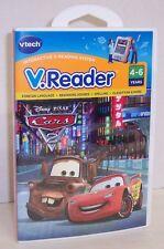 "NEW! V.Reader Disney's ""Cars 2"" Interactive E-Reading Cartridge : VTech {2877}"