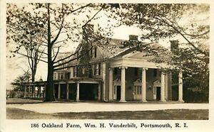 Real Photo Postcard Oakland Farm, Wm H Vanderbilt, Portsmouth, Rhode Island