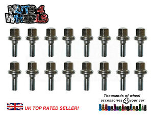 16x Flat seat wheel bolts fit Genuine Peugeot 106 205 306 GTI early style alloys