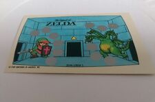 1989 Nintendo Video Game scratch off card The Legend Of Zelda Tools How To Play