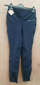 NEW ** HARRY HALL ** NAVY COMPRESSION RIDING TIGHTS LADIES SIZE 10/26R BREECHES