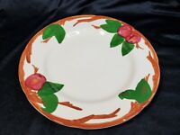 "Franciscan Ware Apple Dinner Plate 10 1/2"" Handpainted Vintage"