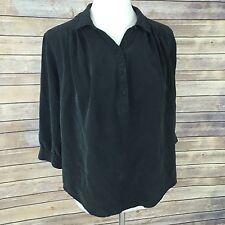 Joie Women's Black Silk Blouse Top Sz Small S Drapey Button Down