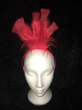 Rooster/CHICKEN RUN Red Bird Costume Headress Piuma Hairband Costume
