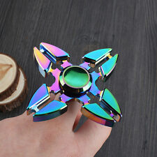 Rainbow Four Arm Shape Friget Spinner Hand Finger Family Focus Kids Toy Gift 1Pc