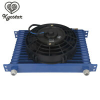 8'' Electric Fan Kit With Universal 15 Row 10AN Engine Transmission Oil Cooler
