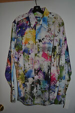 NWT $298 Robert Graham Mack Daddy - Sz Medium Floral Print L/S Sport Shirt