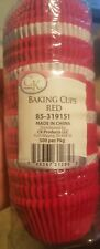 Deep Red Standard Baking Cups, 500 cups. Commercial package.  Free shipping