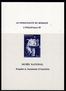 SLANIA ENGRAVED MONACO PHILEXFRANCE 89 PROOF/BLACK PRINT MNH
