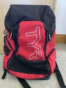 TYR 45L Backpack - Bag Capacity: 45 lt - Colour: Red/White - Swimming