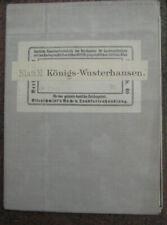 Landkarte Blatt 11 Königswusterhausen Königs-Wusterhausen Landesaufnahme ca.1900