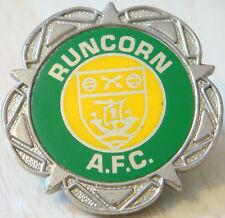 RUNCORN AFC Vintage Insert type badge Brooch pin Chrome 36mm x 36mm