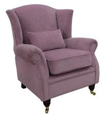 Ashley Wing Chair Fireside High Back Armchair Pimlico Lilac Fabric