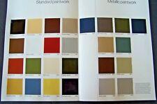 1981 Mercedes 380SL Owners sales brochure Paint color Chart w107 w126  w123 300d