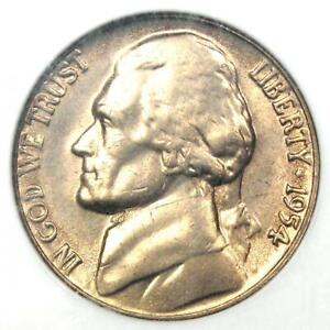 1954 Jefferson Nickel 5C Coin - NGC MS66 5FS - Rare Full Steps - $1,000 Value!