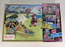 2013 MONSTER HIGH SUPER 3D 4 PUZZLE PACK IN WOODEN BOX UNOPENED