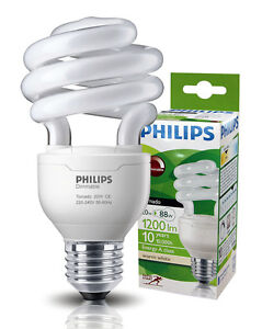 Philips 20W Tornado Dimmable Light Bulb E27 Spiral Twister Equivalent to 88W