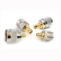 New UHF Male PL-259 Female SO-239 To SMA Male Female COAX RF Connector Adapter
