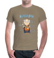 Herren Unisex Kurzarm T-Shirt Super Opa Familie family Sprüche