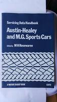 AUSTIN HEALEY & MG CARS SERVICING DATA HANDBOOK WORKSHOP MANUAL MGA TWIN CAM MGB