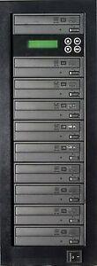 MediaStor #a08 1-9, 1 to 9 Target 24X DVD LiteOn Burner Duplicator Replication