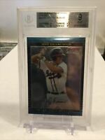 JEFF FRANCOEUR BGS 9 MINT 2002 BOWMAN CHROME DRAFT PICKS REFRACTOR #BDP23