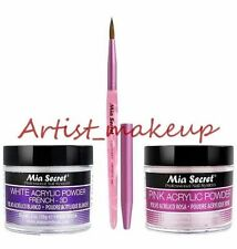 Mia Secret Acrylic Nail Powder Pink + White 2 oz + Kolinsky Artistic Brush # 3D