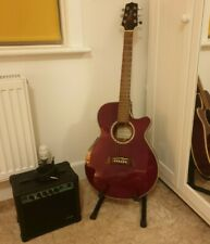 More details for takamine g series semi-acoustic guitar eg560c, beautiful condition + stagg amp